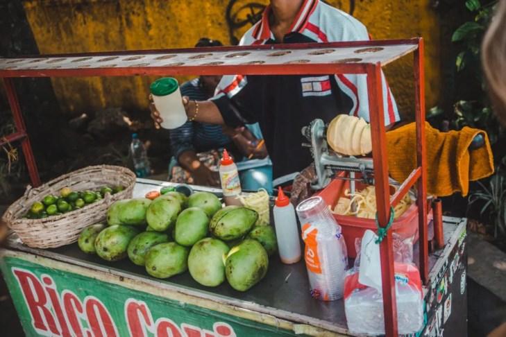 peru mango ceviche street stall lemon citric citrus typical peruvian tasty south america food travel guide blog