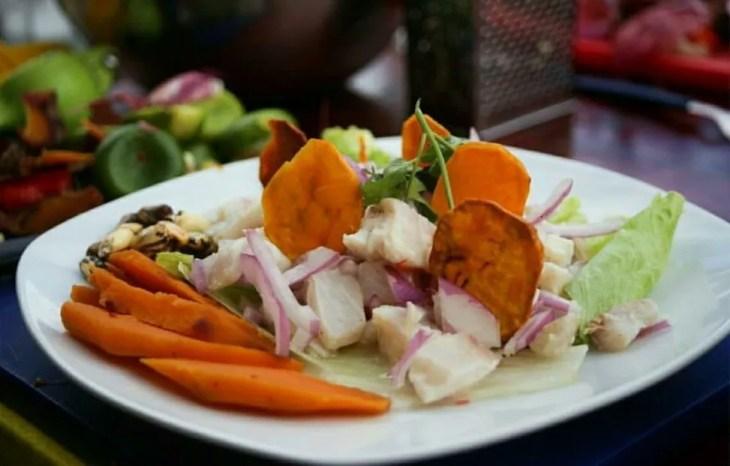 peru ceviche raw white river fish lemon citric citrus typical peruvian tasty south america food travel guide blog