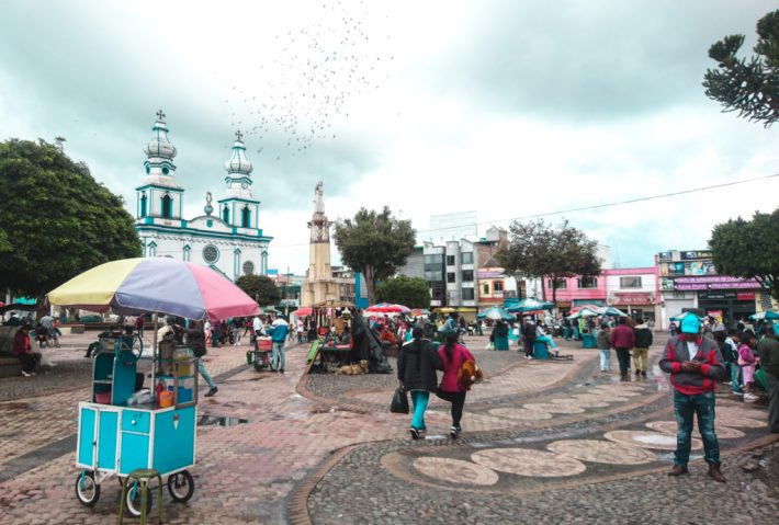 Colombian church | Ipiales town centre plaza square everyday life colombia travel guide blog