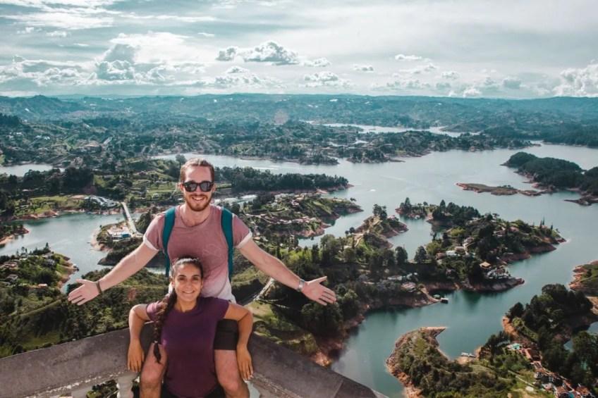 647 steps up Guatape rock lake | La piedra de Guatapé | man-made lakes | Colombia travel guide