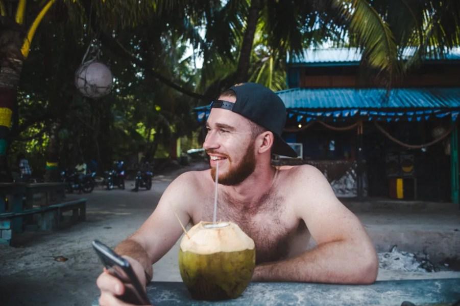 Roland's reggae bar Manzanillo Beach Isla de Providencia | Colombia travel guide by Cuppa to Copa Travels