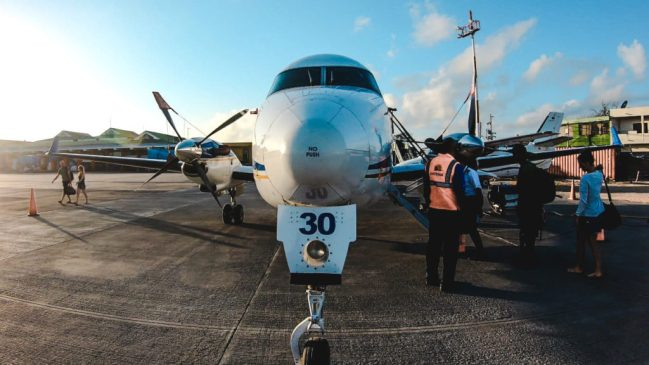 How to get to Providencia from San Andres | Propeller Plane San Andres to Providencia Searca Satena | Isla de Providencia Providence Island | Colombia travel guide by Cuppa to Copa Travels