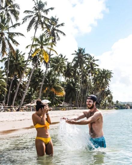 Guide to Maragogi vs Porto de Galinhas alternative, Brazil | Praia dos Carneiros tour review travel couple