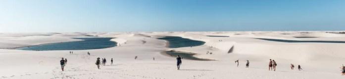 Busy season July Lencois Maranhenses Sao Luis Barreirinhas Atins best sand dunes in Brazil Northeast