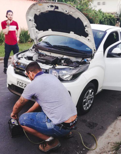 car breakdown dead battery hire rental car paraty brazil avis