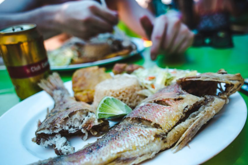 30k COP for food on Johnny Cay San Andres with VIP boat tour