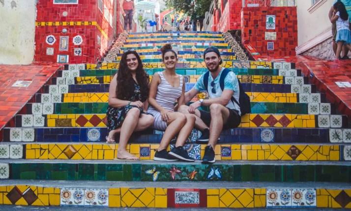 best areas to stay in Rio de Janeiro brazil selaron steps lapa