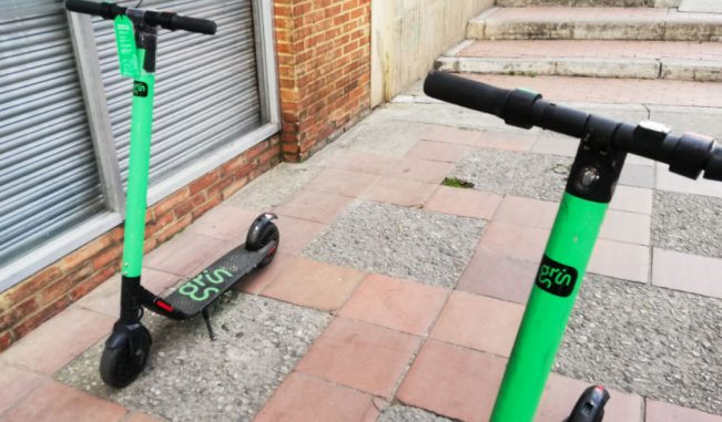 How to get around Bogota Colombia Grin scooters Rappi