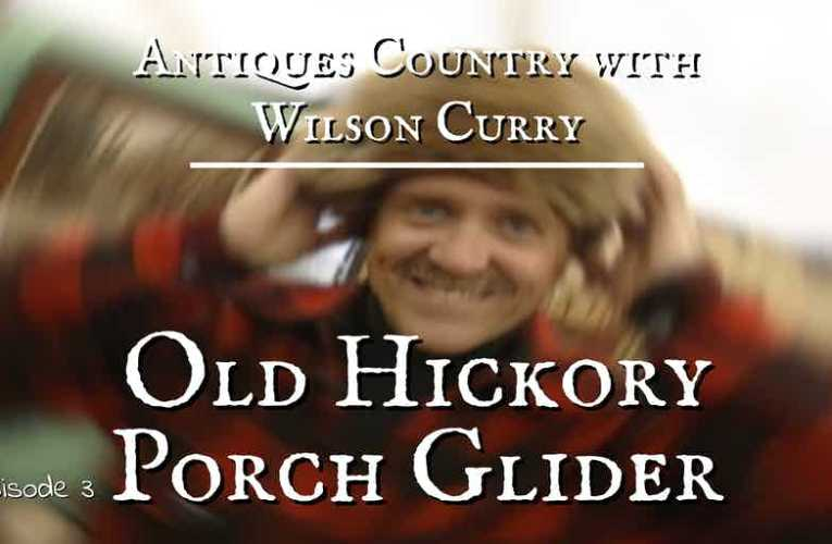 Antiques Country: Old Hickory Porch Glider