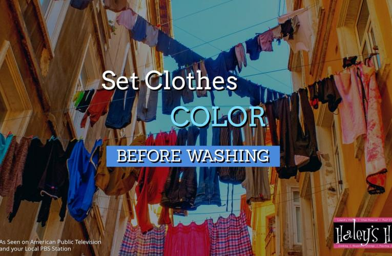 Set the Color of Clothes Before Washing