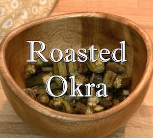 Crunchy Oven Roasted Okra
