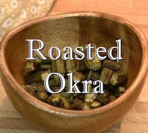 Crunchy Oven Roasted Okra
