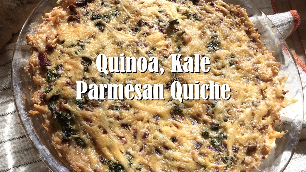 Savory Quinoa, Kale and Parmesan Quiche with Brown Rice Crust 1