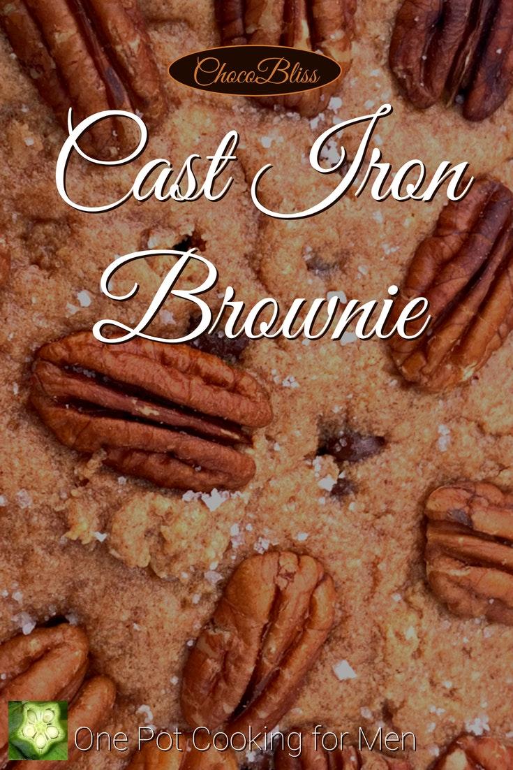 Decadent Cast Iron Skillet Brownie