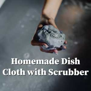 soapy dish cloth