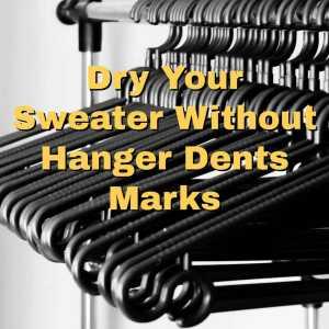 a rack of hangers