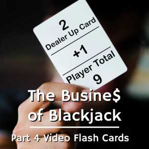 a blackjack flashcard