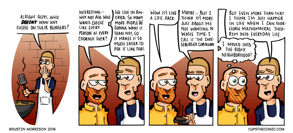 Unfortunately there's not ACTUALLY any math in this comic he said undercutting his entire punchline.