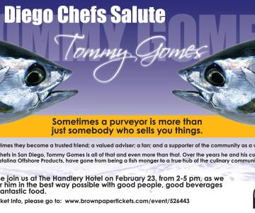 A Salute to Tommy Gomes, san diego food