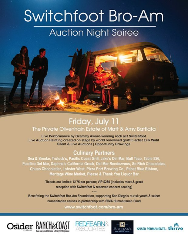 San Diego Charity Auction, switchfoot, san diego life