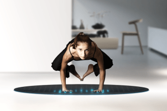 Yoga, exercise, fitness, tech, innovation