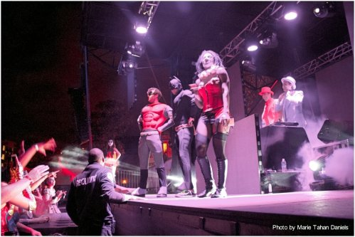 Super Heroes Invade the EC Twins stage