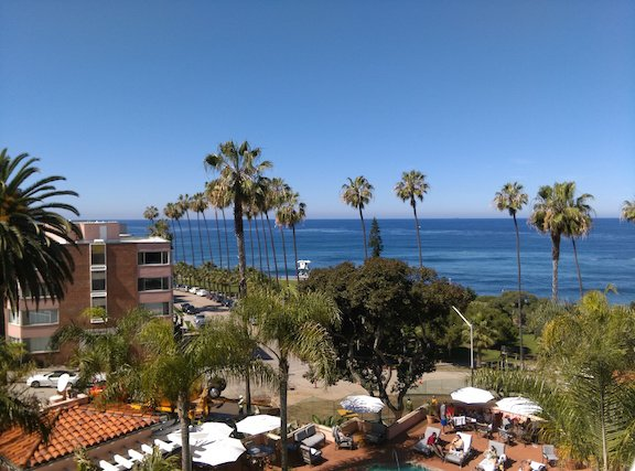 Balcony View from La Valencia La Jolla Ca