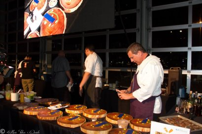 Chef Paul McCabe admiring his work