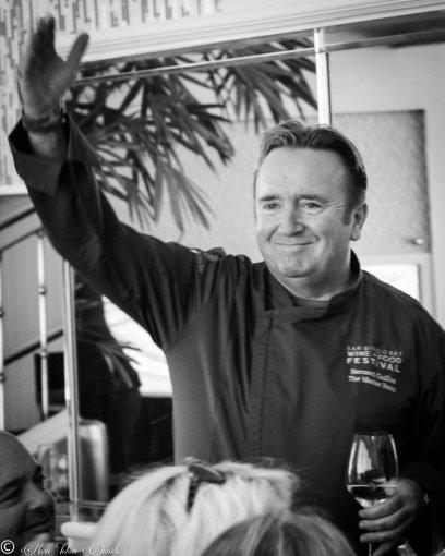 Host, Chef Bernard Guillas of Marine Room