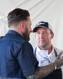 Chef Rob Ruiz of Land & Water Co, Chef Jason McLeod of Ironside Fish & Oyster