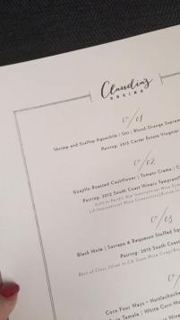 MENU SNEAK PEAK, Claudia Sandoval, MasterChef