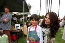 Chef Flor Franco & sone
