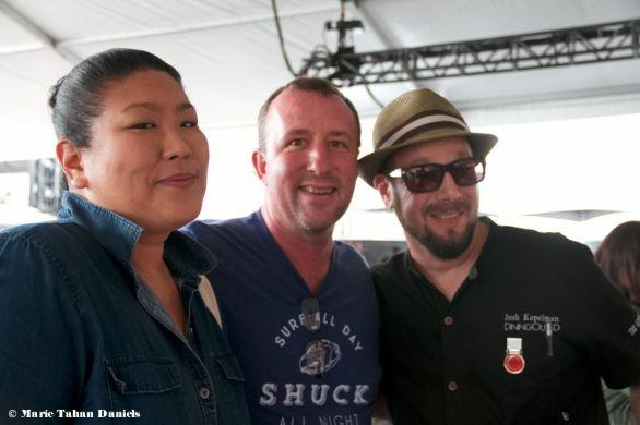 Candice Woo, Chef Jason McLeod, Josh Kopelman