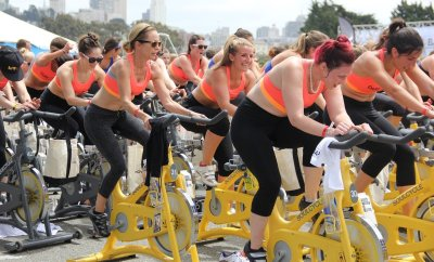 fitness, healthy lifestyle, spinning, bicycling, spin class