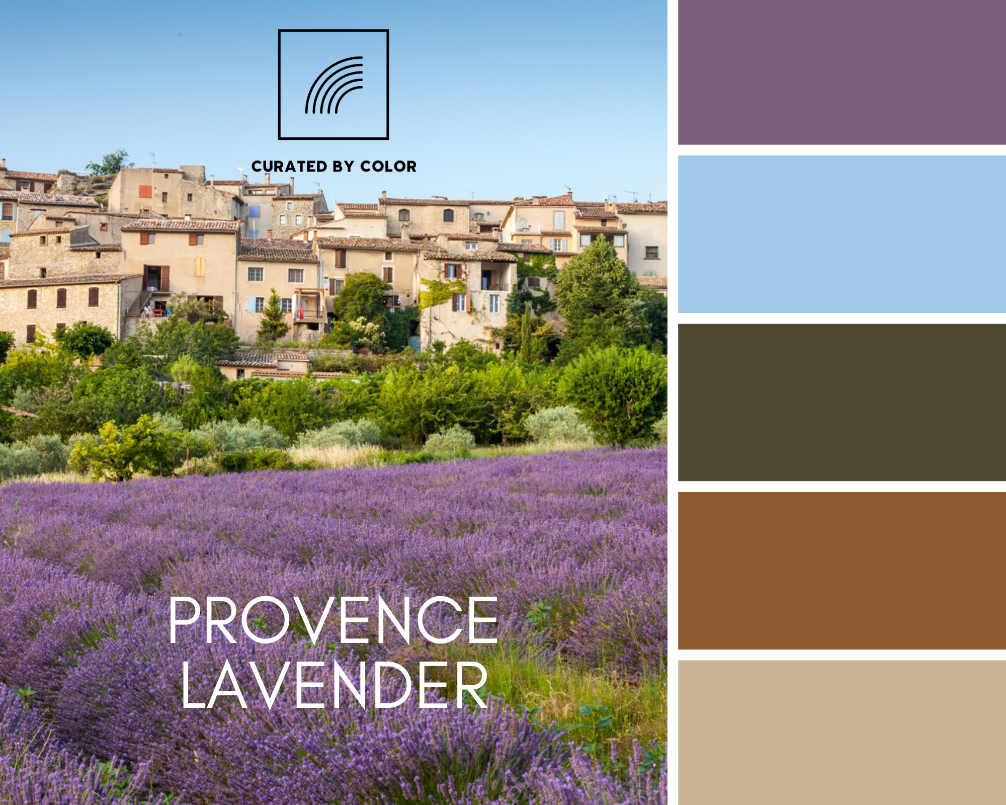 Southern France Provence lavender countryside landscape nature outdoors tranquil earth tone color palette