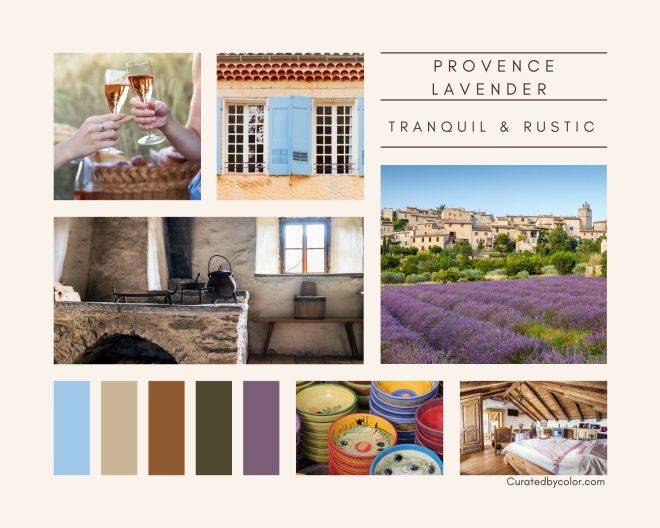 Provence Lavender Vibes Moodboard Tranquil and Rustic Moodboard