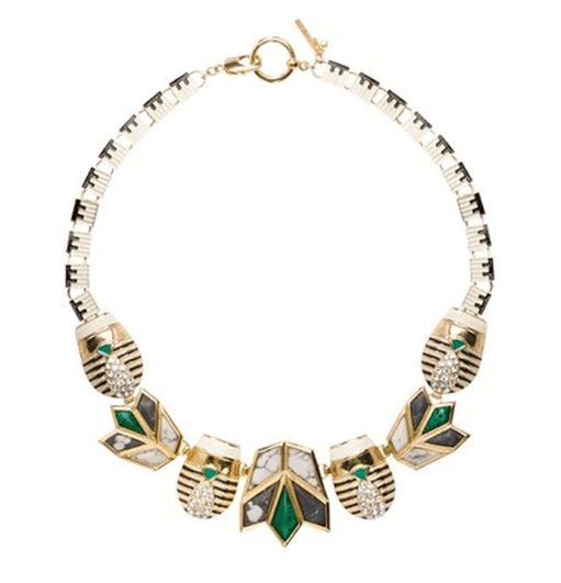 Lisa Lele Sadoughi Scarab & Lotus Necklace