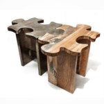 Unique Wooden Coffee Table Or Stool – Jigsaw Puzzle  $495 Each