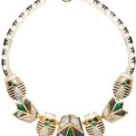 Lisa Lele Sadoughi Scarab & Lotus Necklace $445