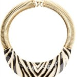 Vintage Givenchy Necklace Zebra Choker  $629