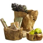 Original Hand Carved Wooden Root Bowls From Chinese Fir Trees $35 – $149