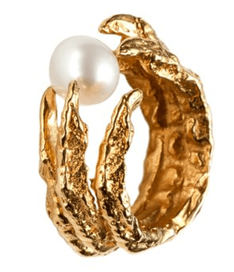 Unique Gold Pearl Ring Tessa Metcalfe