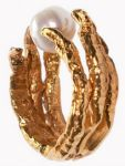 Unique Gold Pearl Ring Tessa Metcalfe