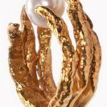 Unique Gold Pearl Ring Tessa Metcalfe Design $145
