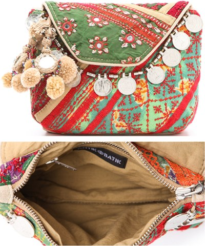 Gabriella Cortese Antik Batik Fun Boho Chic Clutch