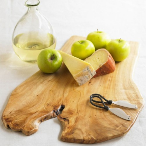 Chic Root Of The Earth Chinese Fir Wooden Cheese Board Set