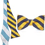 Social Primer Striped Reversible Bow Tie