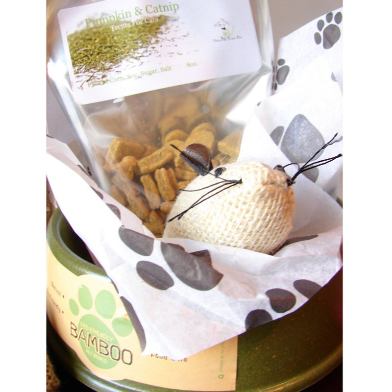 Eco Friendly Cat Lovers Gift Basket
