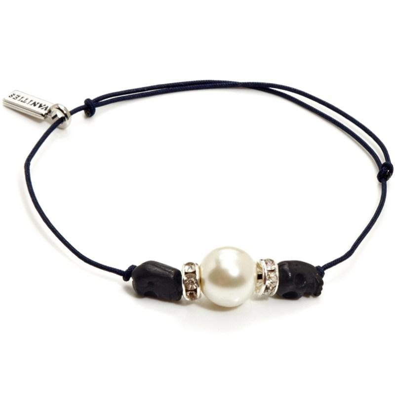 Vanities Jewelry Skull & Pearl Bracelet Review