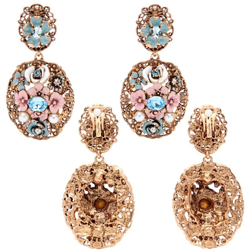 Oscar De La Renta Jewelry Modern Baroque Earrings